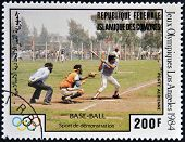 COMORES - CIRCA 1984: A stamp printed in Comores dedicated to the Olympic Games in Los Angeles 1984