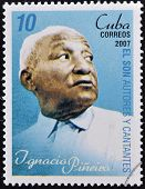 CUBA - CIRCA 2007: A stamp printed in cuba shows Ignacio Piñeiro