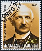 DJIBOUTI - CIRCA 2008: stamp printed in Djibouti shows Ferdinand Buisson