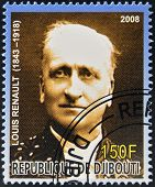 DJIBOUTI - CIRCA 2008: stamp printed in Djibouti shows Louis Renault