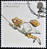 UNITED KINGDOM - CIRCA 2006: A stamp printed in Great Britain shows The Tale of Jeremy Fisher