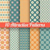 Attractive vector seamless patterns (tiling)