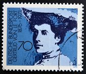 GERMANY - CIRCA 1975: A stamp printed in Germany shows Gertrud von Le Fort writer circa 1975