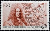 GERMANY - CIRCA 1996: A stamp printed in Germany shows Gottfried Wilhelm Leibniz