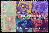 Stamp printed in Australia dedicated to Billy Thorpe & the Aztecs Most People I Know