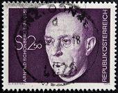 AUSTRIA - CIRCA 1974: A stamp printed in Austria shows Arnold Schonberg composer circa 1974