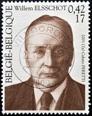 BELGIUM - CIRCA 2001: A stamp printed in Belgium shows Willem Elsschot circa 2001