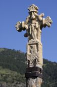 Medieval stone cross in Andorra