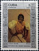 CUBA - CIRCA 1987: A Stamp printed in Cuba shows the painting
