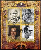 DJIBOUTY - CIRCA 2009: A stamp printed in Djibouty dedicated to family Gandhi circa 2009