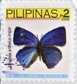PHILIPPINES - CIRCA 2007: A stamp printed in the Philippines shows image of a butterfly