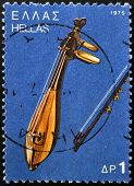 GREECE - CIRCA 1975: A stamp printed in Greece shows Cretan lyre circa 1975