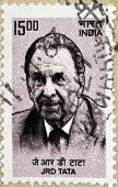 INDIA - CIRCA 1962: stamp printed in India shows J.R.D. Tata circa 1962