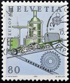 SWITZERLAND - CIRCA 1983: stamp printed in Switzerland shows Cog railway circa 1983