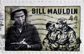 UNITED STATES OF AMERICA - CIRCA 2010: A stamp printed in USA shows Bill Mauldin circa 2010