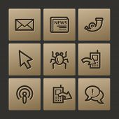 Internet web icons, buttons set