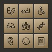 Medicine web icons, buttons set