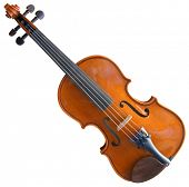 Violin Isolated with Clipping path on White Background