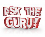 Ask the Guru 3D Words Advice Help Assistance Expert