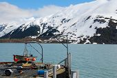 Portage lake in Alaska in the early summer