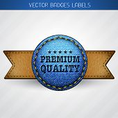 vector leather and jeans premium quality label design