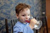 Child Drinks Juice