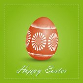 Happy Easter Card With Egg.