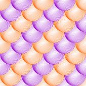 Design Seamless Colorful Volumetric Sphere Geometric Lines Pattern. Abstract Grid Textured Backgroun