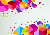 Colorful Cubic Bright Background