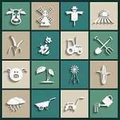 stock photo of power-shovel  - Agriculture and farming icons - JPG