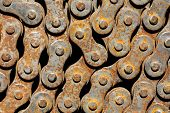Rusty Chain From Bicycle