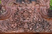 Bas-relief Carvings At Banteay Srei