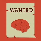 Brain On Wanted Paper, Business Conceptual