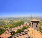 View on Italy from Monte Titano, San Marino