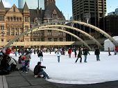 Public skating rink in downtown Toronto