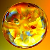 Abstract Fortune Teller Crystal Ball
