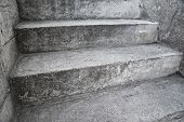 Concrete Stairway As Abstrct Composition