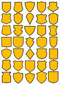 Set of different heraldic shields