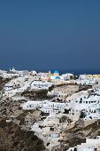 Oia On Santorini Island In The Cyclades