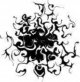 Spidery swirling shape