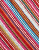 Colorful striped woolen fabric