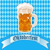Oktoberfest Celebration background with beer glass