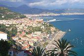 picturesque landscape of vietri sul mare on amalfi coast in Italy
