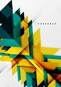 Tech futuristic geometric 3d shapes, minimal abstract background