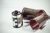 35 mm negative film - roll of camera film