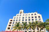 Art deco building of Miami Beach Florida.