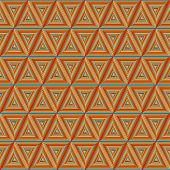 Seamless Colorful Orange Triangulate Pattern