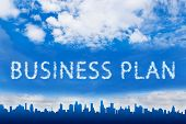 Business Plan Text On Cloud