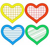 Hearts Icons Set. Abstract Romantic Forms Of Hearts