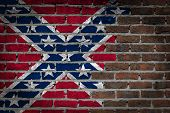 Dark Brick Wall - Confederate Flag